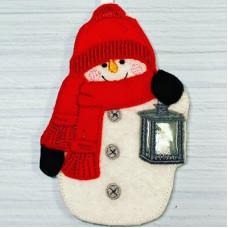 Winter Snowman Hanger