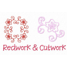 Redwork and Cutwork